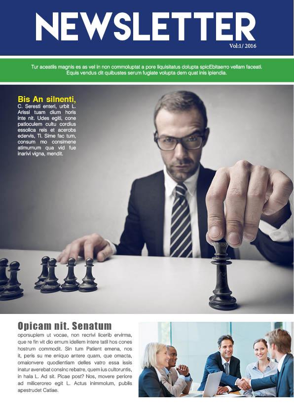 Business Newsletter Template \u2013 GraphicLoads