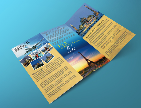 trifold travel brochure template - Yelommyphonecompany