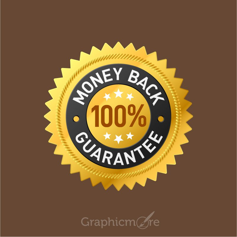 Free Mockup Psd Envelope 100% Money Back Guarantee Badge Design Free Vector File