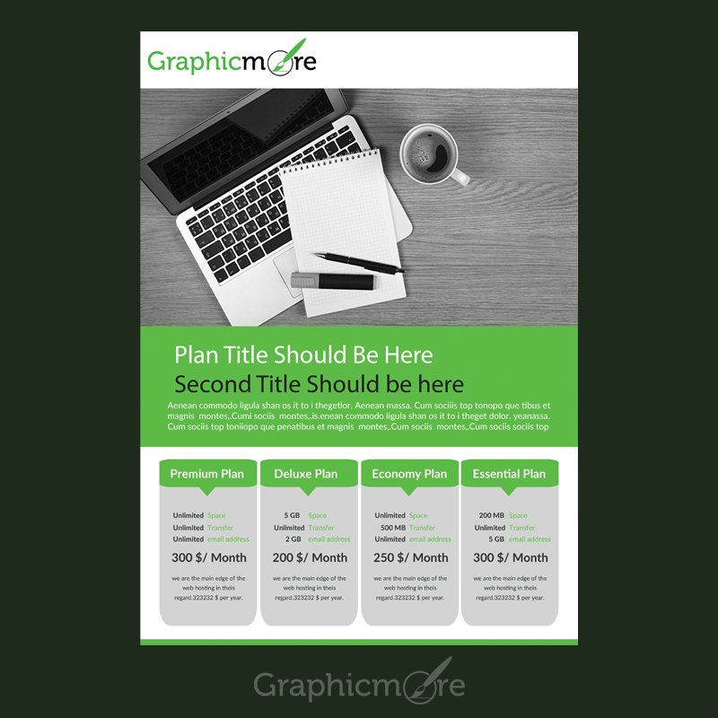 Pricing Table Flyer Design Free PSD File Download - free flayer design