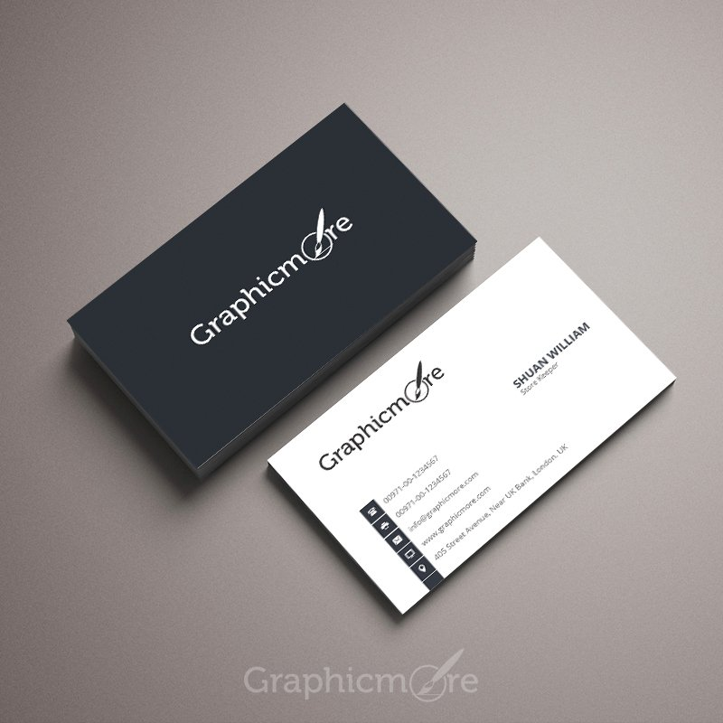 Simple  Corporate Business Card Template Design Free PSD File - business card template design
