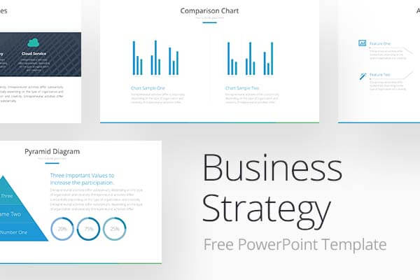 Business Strategy Free Powerpoint Template PPT / PPTX