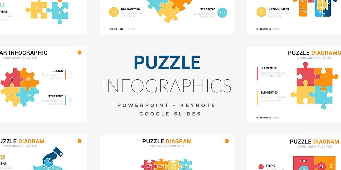23 Puzzles Infographic Template - PowerPoint, Keynote, Google Slides
