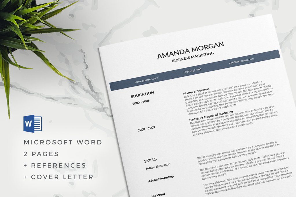 20+ Best Modern Resume Templates Word (2019)