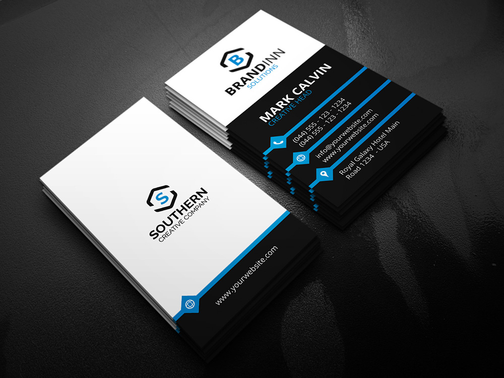Creative Vertical Business Card 21 - Graphic Pick