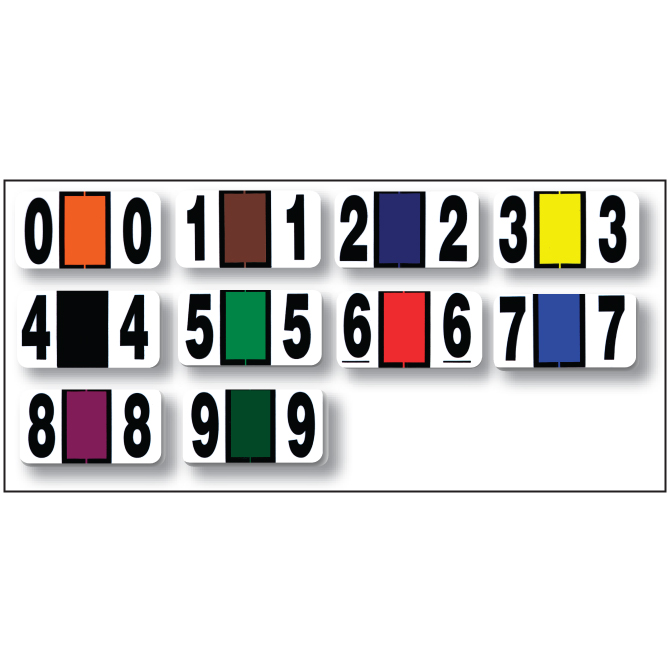 File Right Service Number Labels - Graphic Resources Inc