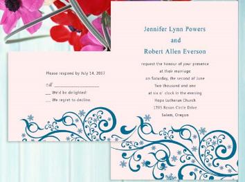 Wedding invitation, using Photoshop brushes
