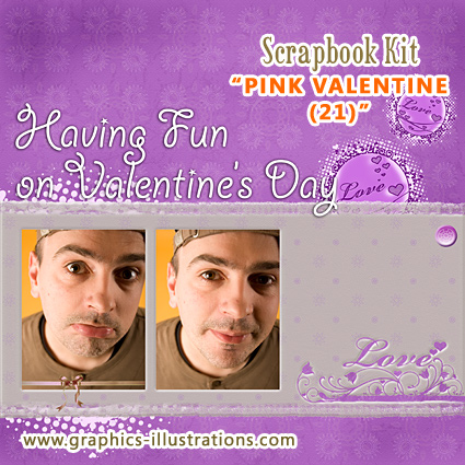 Last Minute Valentines Day Scrapbook Kit