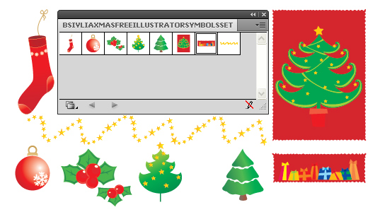 Adobe Illustrator Christmas & New Year Symbols set - Free Download