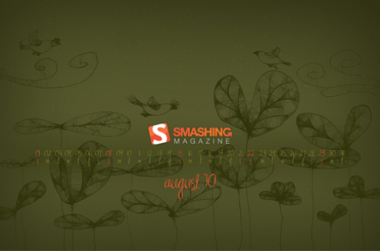 August 2010. Desktop Wallpaper Calendar