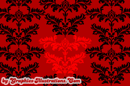 Free Damask Lite vector set - 3 pieces
