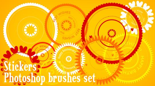 Stickers Photoshop brushes
