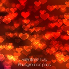 Valentine's Day Backgrounds Pack