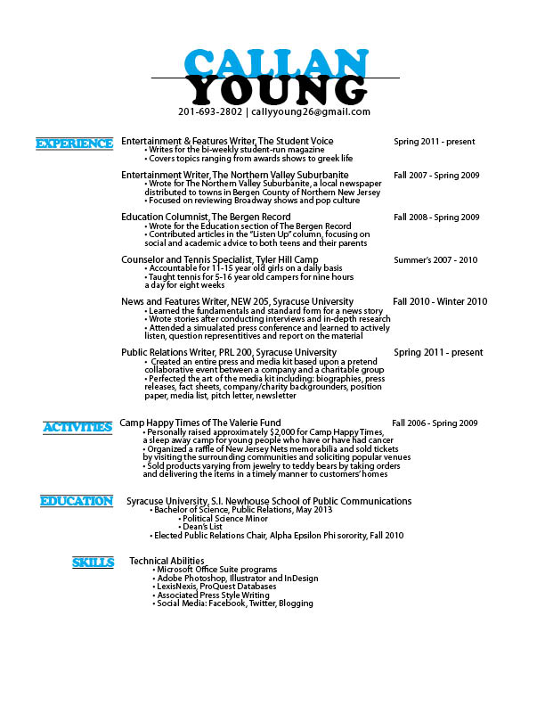 Columnist Resume 2 22 Contemporary Resume Templates Free Download
