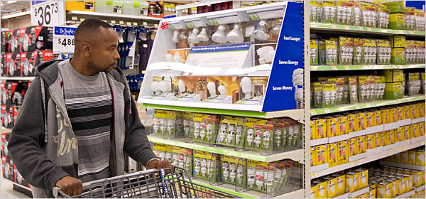 Wal-mart sells energy saving bulbs