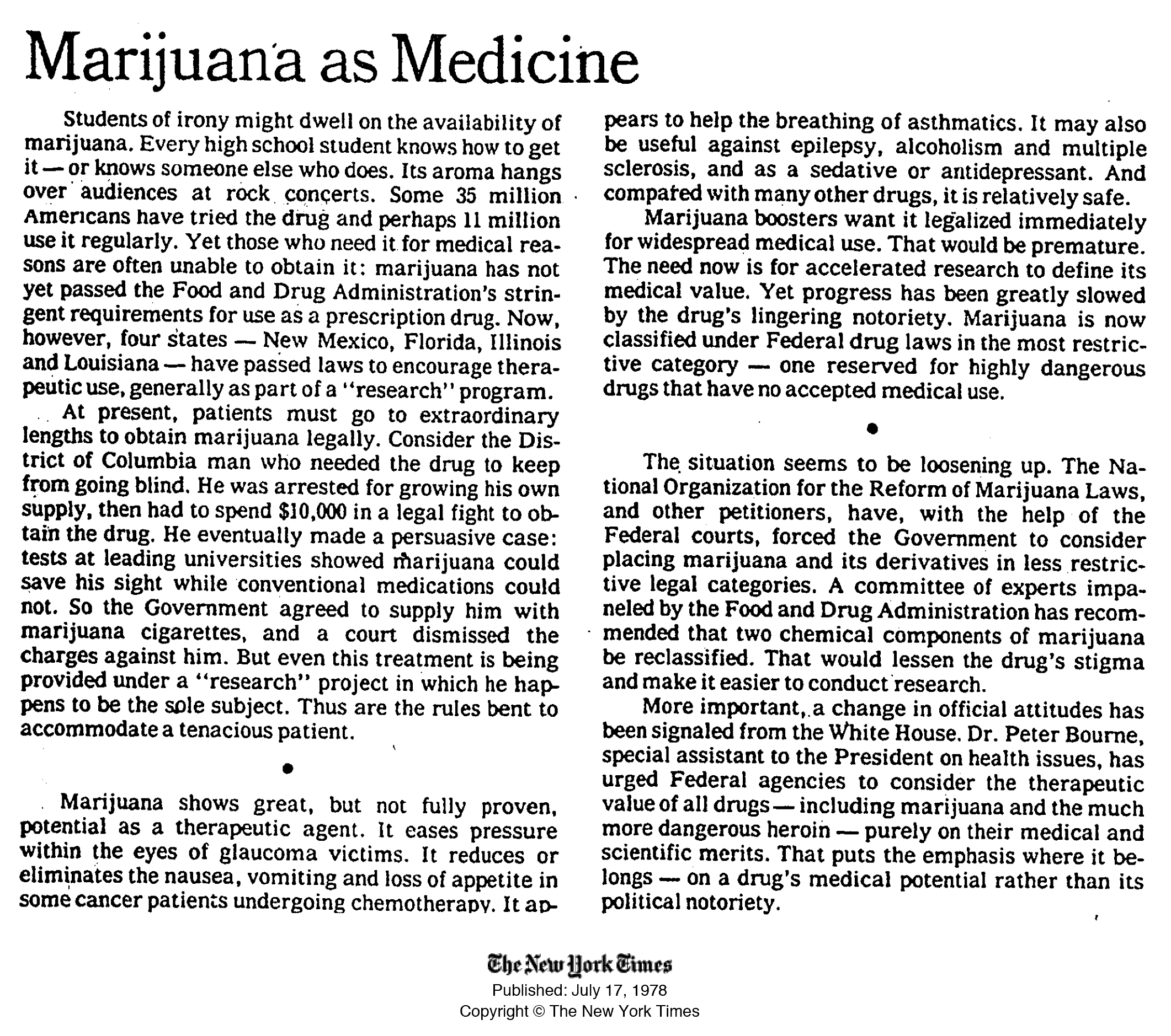 Argumentative essay on medical marijuana