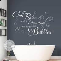 Bathroom Wall Art : Chill Relax Unwind Bath Full of ...