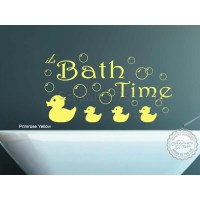 Bathroom Wall Art : Bath Time Wall Art Sticker Quote Vinyl ...