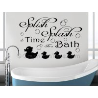 Bathroom Wall Sticker Quote, Splish Splash Bath Time, Wall ...