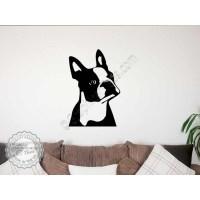 Boston Terrier Wall Sticker, Vinyl Mural Decal