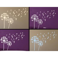 Dandelion Blowing in the Wind Home Wall Mural Sticker ...