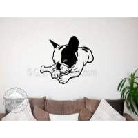 Cute French Bulldog Puppy, Lying Down, Home Wall Sticker ...