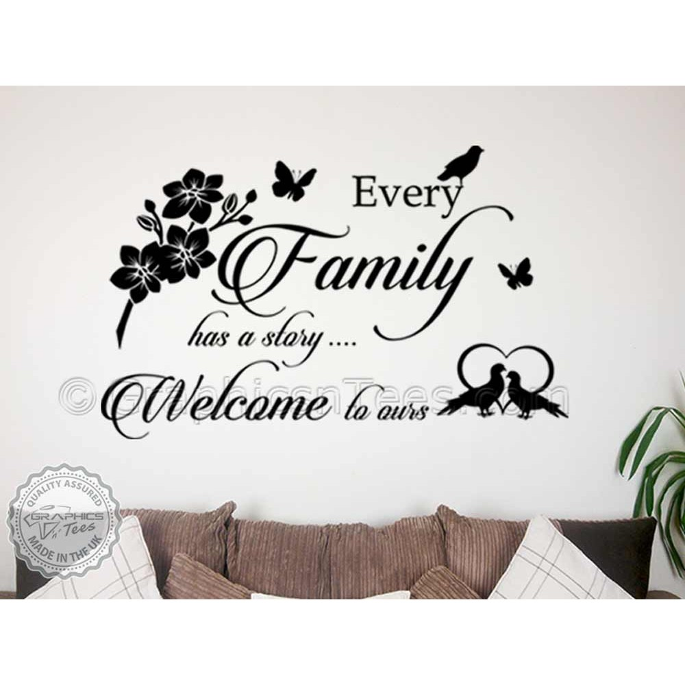 Home Décor Items Every Family Has A Story Inspirational Wall Stickers Quote Home Decor Decals Home Furniture Diy Brucebibee Com