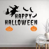 Happy Halloween Wall Stickers Party Decorations with Witch