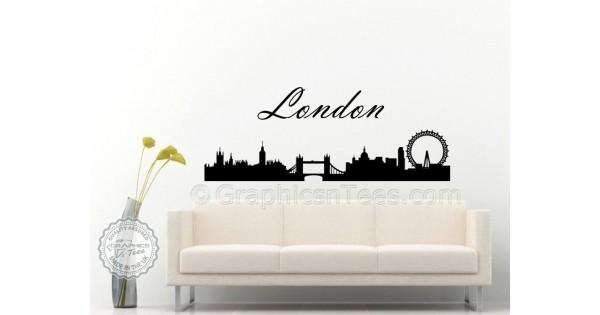 london skyline silhouette wall sticker home mural decor decal london skyline wall sticker