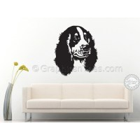 Cocker Springer Spaniel Dog Wall Sticker, Vinyl Mural Decal