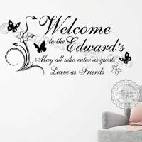 Personalised Welcome Family Bar Restaurant Pub Entrance ...