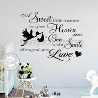 Boys Girls Nursery Wall Sticker Baby Bedroom Wall Quote ...