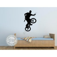 Kids & Nursery Wall Art : BMX Bike Stickers Boys Girls