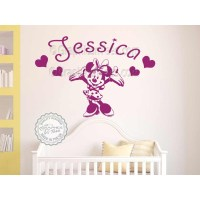 Wall Stickers : Personalised Minnie Mouse Nursery Wall ...
