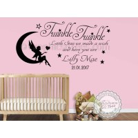 Personalised Twinkle Twinkle Little Star Nursery Wall ...