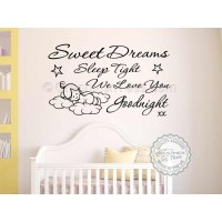 Sweet Dreams Sleep Tight Wall Art Sticker, Baby Boy Girl ...