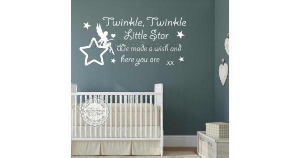 Twinkle Twinkle Little Star Wall Stickers Baby Boys Girls