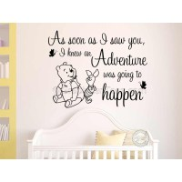 Nursery Wall Sticker Winnie The Pooh and Piglet Bedroom ...