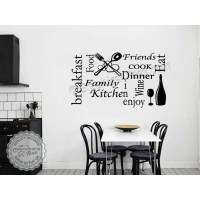 Kitchen Wall Sticker Quote Wall Art Collage, Kitchen Word ...