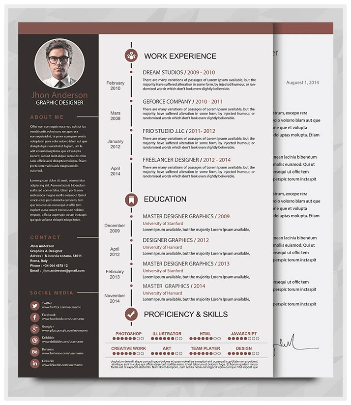 best easy to alter resume templates