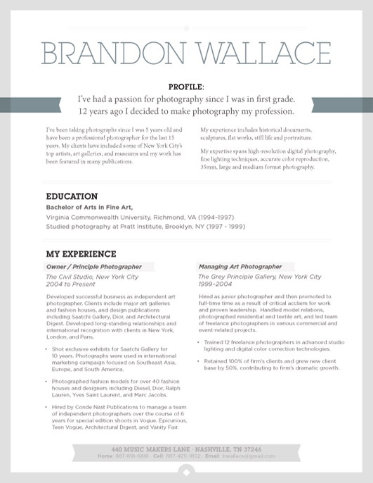 resume for cabinet making