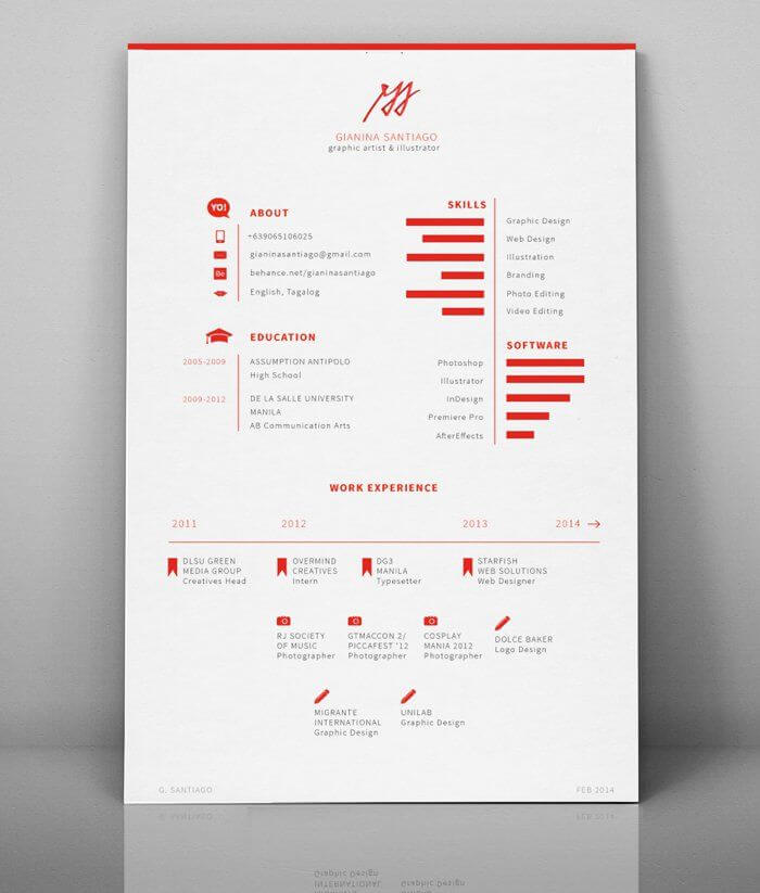 Minimal-Resume-08jpg (700×823) ccv Pinterest - graphic design resume ideas