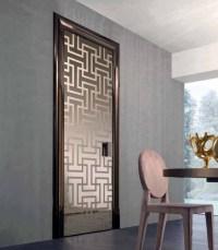 Modern glass interior door