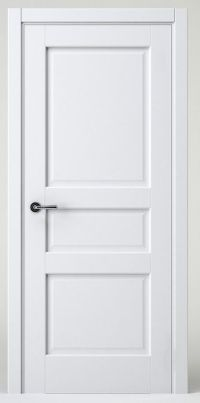 Modern white interior door