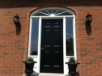 Solid wood front doors uk style