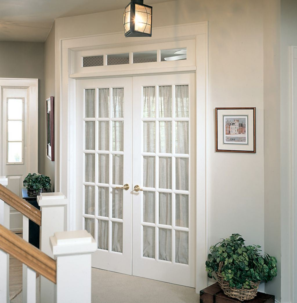 Wit Glas White Interior French Doors With Glass