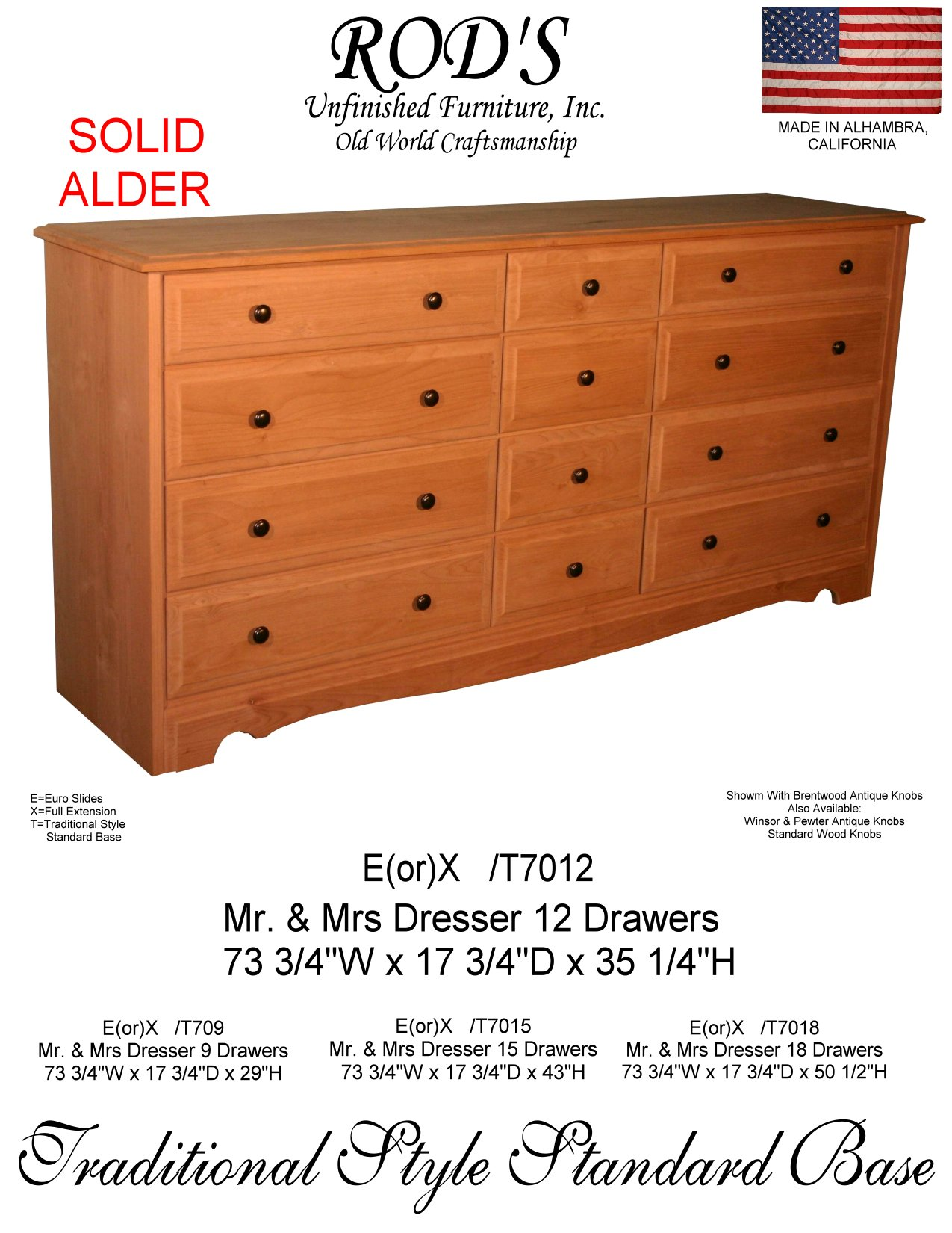 12 Drawer Chest Of Drawers Bedroom Countrywood Furniture