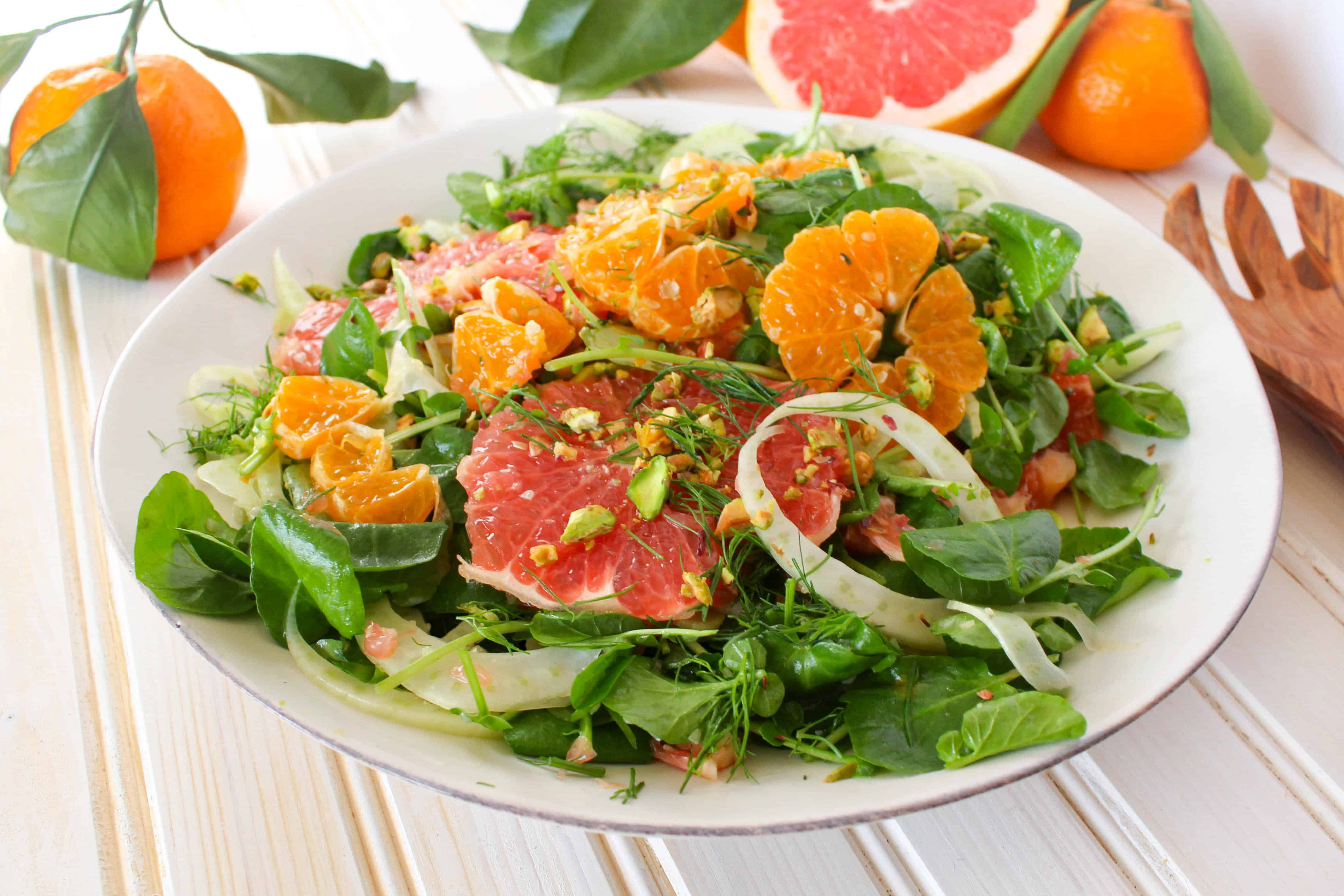 Citrus Salad recipe made with grapefruit, satsuma orange, watercress ...