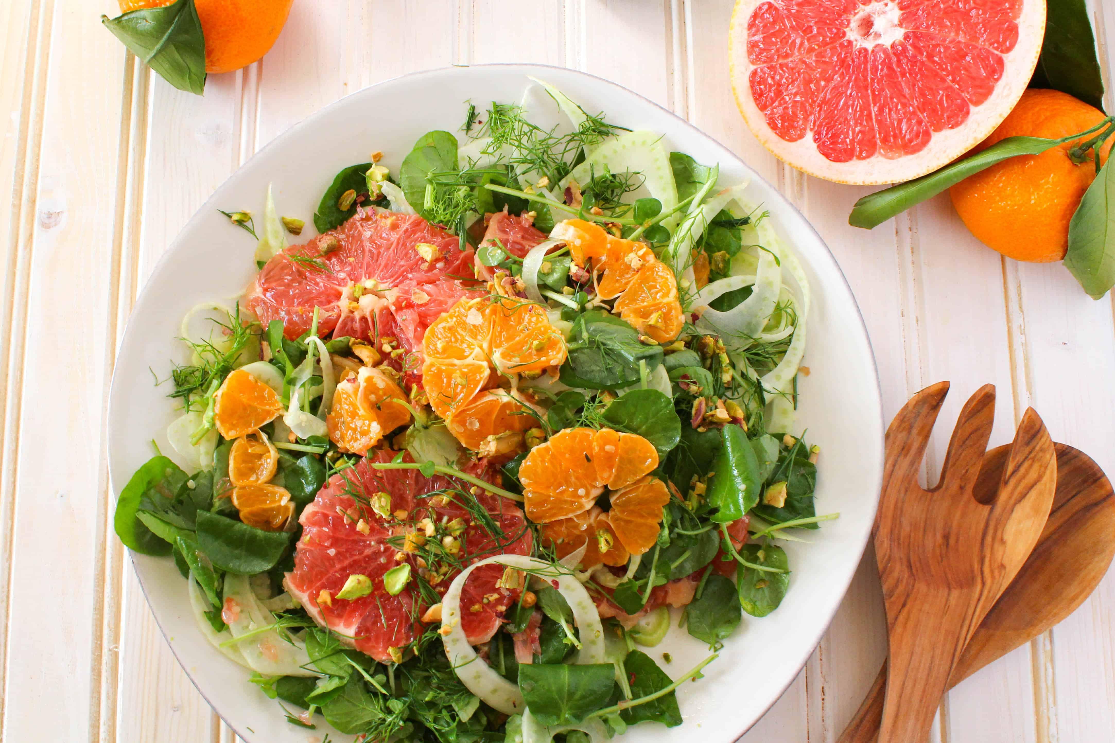 Citrus Salad recipe made with grapefruit, satsuma orange, watercress ...