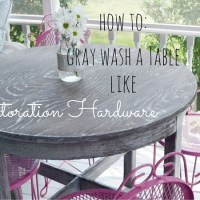 Faux Restoration Hardware Table- Gray Wash Tutorial
